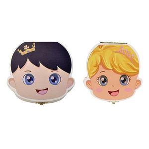 Baby Teeth Storage Box English Text Baby Boys Girls Wood Case Save Milk Teeth Collection Organizer Holder
