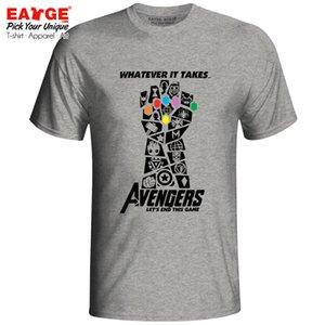 Мстители 4 Футболка Endgame Marvelous Infinity War End Game Футболка Thanos Новинка Футболка EATGE Хлопок Белый Серый Мужчины Женщины Футболка Q190523