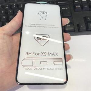 Heißer Verkauf für iphone 11 11Pro Displayschutz 5D komplett Vorderseite aus gehärtetem Glas-Schirm-Schutz-Film für iPhone X Xr Xs Xs Max 8 7 6 auf Lager