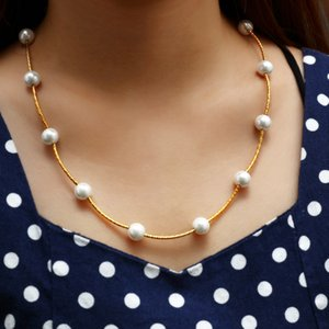 MINHIN Pearl Necklace Jewelry Fashion Chain Choker Necklace Collares Wedding Engagement Jewelry Bijoux Femme