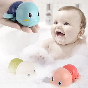 물 귀여운 거북이 만화 거북이 시계 바람 수영 거북이 장난감 목욕 장난감 재미 아기 목욕 극
