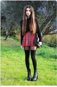 Femmes taille haute évasé Skater Rouge Check Plaid Short Mini Short plissé jupe