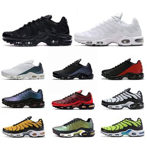 Nike Air Vapormax Tn Plus Se Mercurial Erkekler Ayakkabı Chaussures Üçlü Siyah Beyaz Volt Hiper Mavi Erkek Tasarımcı Sneakers Sports Boyut 40-45 Koşu