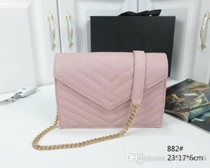 Discount berühmte Designer Handtasche der Frauen neue Brief Umhängetasche hochwertige echtes Leder Messenger Tasche Luxus Satteltasche