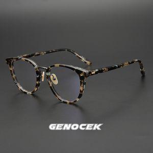 2020 Acetato Glasses Frame per donne degli uomini del progettista della grande pagina di prescrizione ottica miopia Eyewear degli occhiali