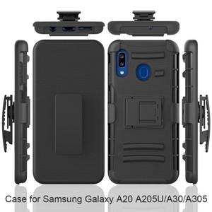 Armure robuste Heavy Duty Defender clip ceinture pour Samsung Galaxy J2 base A10e / A20E A20 A30 A50 antichocs Couverture w / Béquille