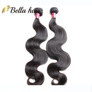 "Cambodian Hair European Mongolian Virgin Hair Weave Natural Color Body Wave Remy Human Hair Bellahair 8""-30"" Mix length 2pc lot"