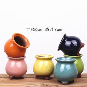 Meaty Flowerpot Mini roxo Areia criativa Suculenta Pots Crude Cerâmica Muitos cores Ceramic Bacia Factory Direct Selling p1 2 5LT