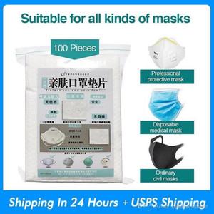 100pcs / lot Einweg-Gesichtsmasken Ersatzfilter Pad Breath Maske Dichtung atmenden Matte für alle Arten von Masken Großhandel