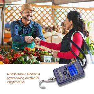 موازين 40KG الرقمية الموازين LCD العرض الشنق هوك الأمتعة الصيد مقياس الوزن المحمولة مطار الالكترونية المنزلية CCA11905 200PCS