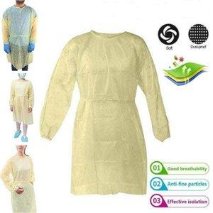 Isolamento monouso Protezione Gown casa protettivo abbigliamento outdoor non tessuto a prova di polvere-Abbigliamento Lavoro giallo sicura protezione di sicurezza