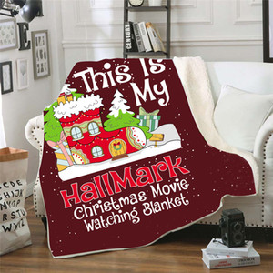 Invierno Mantas de Navidad Dibujos animados Impreso 130 * 150cm Bebé 3D Manta de Navidad 150 * 200 cm Ropa de cama para niños Mantina de espesamiento Mantina 07
