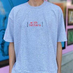 19FW Cashew Fleurs Box Logo T-shirts pour hommes femmes lettres Couple de T T-shirt imprimé Designer manches courtes d'été S-XL