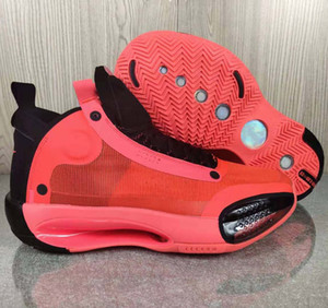 2020 Hommes 34s Chaussures de basket Jumpman XXXIV 34 Eclipse Bleu Void Ambre Lève-Bred Snow Leopard Designer Blanc Noir de sport Chaussures de sport Formateurs