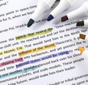 6 couleurs surligneur fixé Morandi rétro macaron capuchon amovible couleur marqueur compte main étudiant