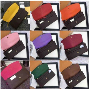 Высокое качество с коробкой из натуральной кожи многоцветных монет кошелька с держателем код даты длинного бумажник карты классического карманом на молнии M60136