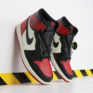 New Arrival 2020 Shoes Top quality Basketball Shoes Mens Chicago red 1s Sneakers Black Sports Trainers eur 40-46