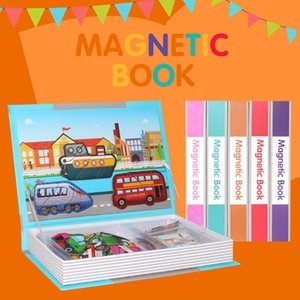 3D Magnetic Book Kids Puzzles Jigsaw Toy Brain Training Game Learning Spell Puzzle Educational Toys for Children Christmas Gift> Y200704