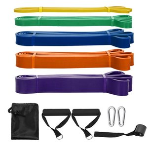11pcs Resistance Bands Set Workout Fintess Exercise Loop Bands Pull Up Band Door Anchor Cushioned Handles Hooks with Carry Bags