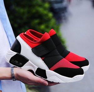 ayakkabı Artı boyutu 39-44 Running Yeni Geliş 2020 Yeni Erkek Deri Siyah beyaz kırmızı renkli su geçirmez Yuvarlak Burun Sneakers Erkek Combat Desert Casual
