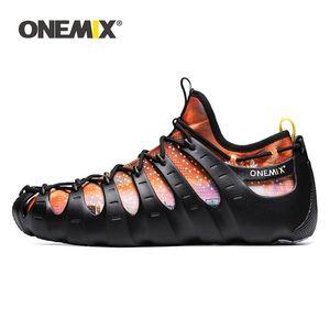 2020 Top qualité Onemix chaussures rome chaussures hommes sandales de marche en dentelle respirant la mode chaussures baskets course à l'extérieur mâle