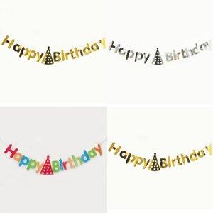Ins Baby Geburtstage Pull Flag Babys Jahre alt Alles Gute zum Geburtstag Briefstil Banner Vergoldung Buchstaben Banner 1 8PS L1