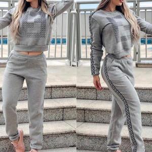 Womens Designer Survêtements New capuche costume deux pièces Tenues Sports de plein air Loisirs actifs et Costume 2020 Confortable gros