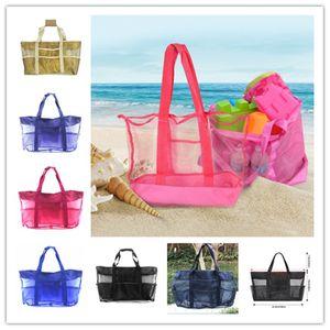 Mom Baby-Sommer-Strand-Taschen Mesh-Schultertasche im Freien Spielraum-Handtaschen Kinder Spielzeug Werkzeug-Speicher-Organisatoren Beutel-Mamma-Einkaufstasche Verkauf E22809