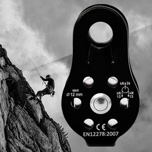 Montanhismo Escalada Fix Pulley Único polias Pulley Outdoor Corda Survival alta Altitud Traverse Transportando a engrenagem