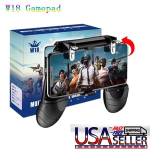 2pcs W18 Smart Phone Gaming Trigger for PUBG Mobile Gamepad Fire Button Aim Key Shooter Handle Grip Controller Game Pad Joystick