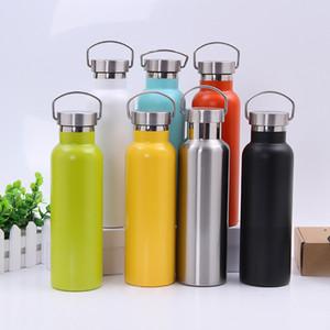 Stainlesss Stahl Wasserflaschen Tumbler Vacuum Insulated Trinken Becher-Schale mit Deckel bewegliche im Freien Reise Klettern Becher 350 / 750ml XD22098