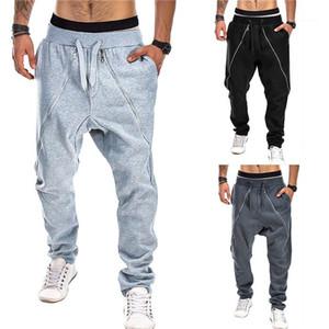 Брюки Мужчины Повседневная одежда Mens Zipper кулиской Cross брюки лето Дизайнер Новый Hiphop Стиль тинейджеров Beam Foot