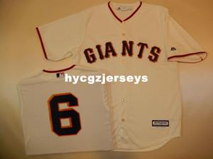 Günstige Baseball-Männer Spitzen SG # 6 JARRETT PARKER Shirt JERSEY CREMEN Herren genäht Trikots groß und hoch Größe XS-6XL Zum Verkauf