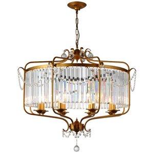 Современная роскошь E14 Gold Black Iron Хрусталь Led освещение канделябра Светильники для Лофт Лестница Гостиная Ванная Лампа LLFA