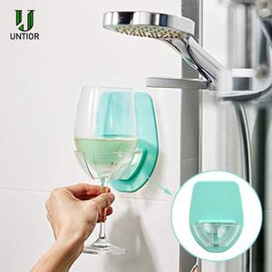 Titular UNTIOR Banheira vidro de vinho portátil de plástico vermelho vinho Cupholder para banheiro chuveiro da cozinha Household cerveja Tools