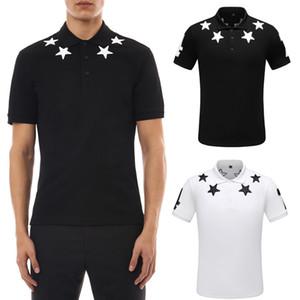 Männer 2020 Sommer-Polo-Hemden mit Stickerei-Sterne Italien Fashion Design Drehen Ausschnitt Shortsleeves Cotton Polos