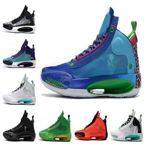 Discount 2020 Männer XXXIV PF J34 Blau Void Bred Basketballschuh Trainings Turnschuhe Fuß Turnschuhe der heißen Männer kleiden Joggen billig Trainer Schuhe