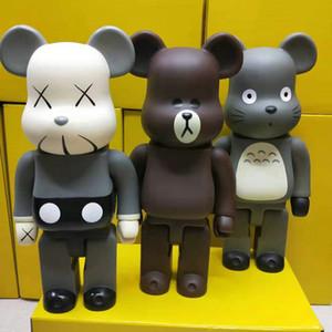 3 색 400 % Bearbrick 친구 이웃집의 Totor 폭력 곰 수제 모델 완구 바탕 화면 장식 생일 크리스마스 GiftsFD12