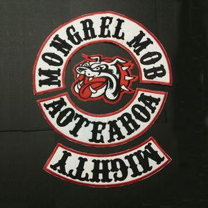 جديد وصل MONGREL MOB باتش أغطية لجاكيت السترة ملصق للملابس الحديد على رقعة الأحذية يعرض BIKER MOTORCYCLE MC PATCH APPAREL