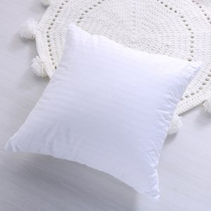 Nouvelle haute élasticité pleine moelleuses oreiller 100% coton Coussin carré Insert Stuffer pour Lit Couch décoratif blanc