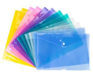 PP مغلف المجلد من البلاستيك الشفاف وثيقة حقيبة A4 خطة الصحة والسلامة الملف زر مصنفة حقائب القرطاسية التخزين مدرسة المكتب الإعلامي LSK103