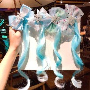 infantil grampo de cabelo Acessórios de cabelo Princesa Wig Hairpin Meninas dos desenhos animados clipe hairpin menina mantilha