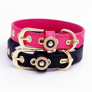 Fashion Pet Dog Collar Necklace Dog Accessories Custom Genuiner Leather 100% Handmade Puppy Cat Collar