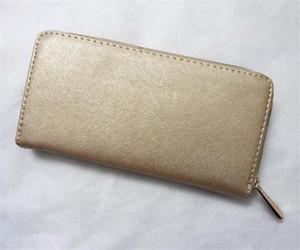 Europe Amérique du mode féminine à long portefeuille en cuir PU haute capacité bourse de portefeuille fille d'embrayage à glissière unique paquet de carte de sac de pièces