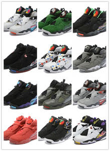 ALLE Farben Neu 8 VIII rot schwarz blau grau silber 8s niedrig Männer Basketball Schuhe Sport Turnschuhe Outdoor Trainer hohe Qualität Größe 7-13