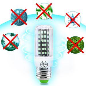 UVC Sterilizatör ampul LED E27 antiseptik lamba LED 110 V / 220 V ozon lamba E14 ultraviyole LAMPADA LED 72 112 leds dezenfekte bakteriyel