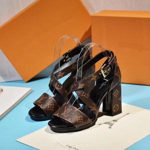 2020 scarpe da sera progettista sandali tacco lettera print designer di scarpe da donna di lusso delle donne del progettista promenade di sera dei sandali