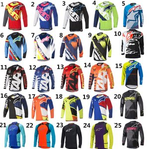 MOTO GP Bike vestiti di riciclaggio Serie jersey a maniche lunghe in discesa Motociclismo Mountain Bike Motocross Off-road Fox TLD T-shirt