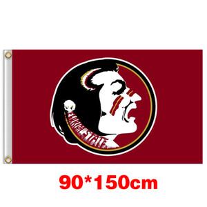 Universidade Seminoles Florida State Flag Grande Colégio 150CM * 90CM 3X5FT poliéster personalizado Qualquer Bandeira Bandeira Sports voar para casa jardim ao ar livre