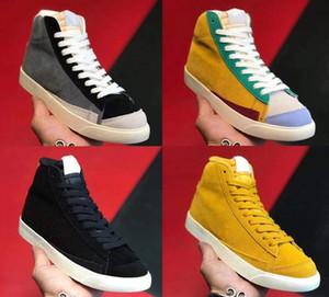 Blazer Mid 77 Vintage-Suede Skate Board Schuhe Suede Mode Sportschuhe Grau Gelb 77 Zapatos Schuhe Mann-Frau-Weinlese-Rochen-Turnschuh